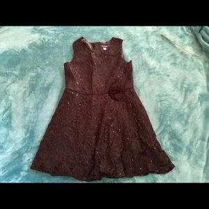Girls size 14 Children 's Place black sequin dress